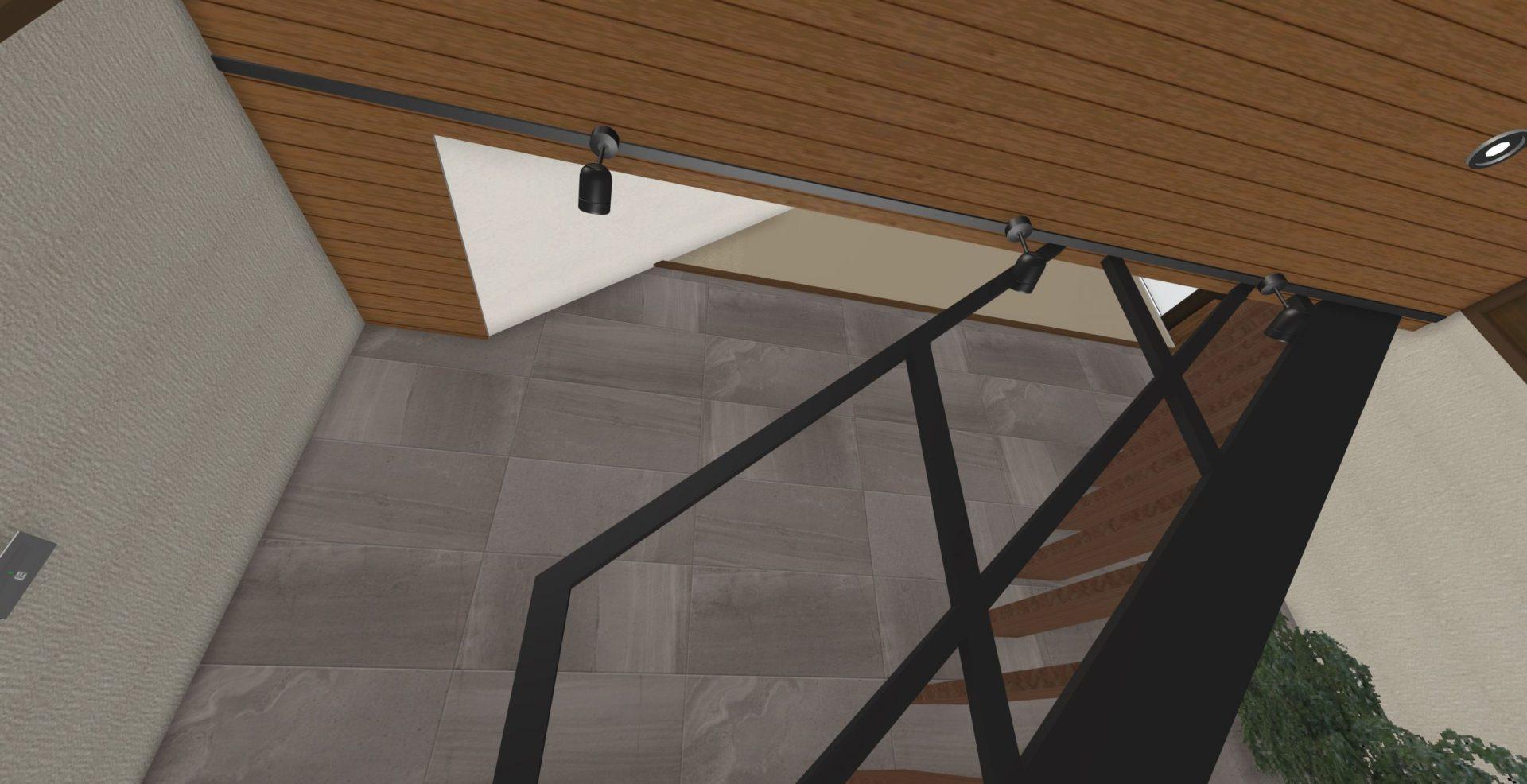 エコカラットの見切りには巾木を使用(ダクトレールなど当初よりかなり作り込んであります)