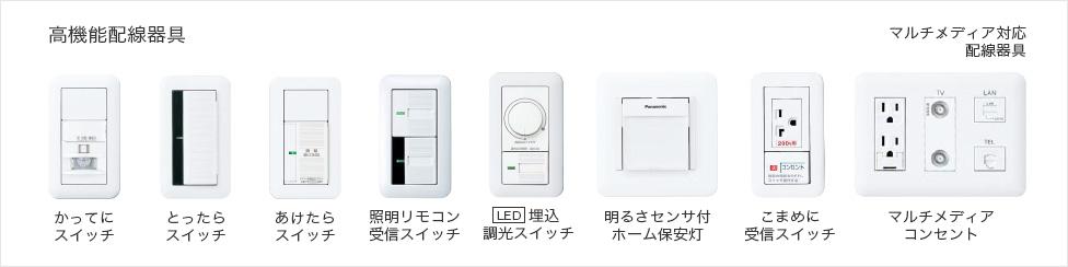 コスモシリーズワイド21は機能スイッチやコンセントが豊富