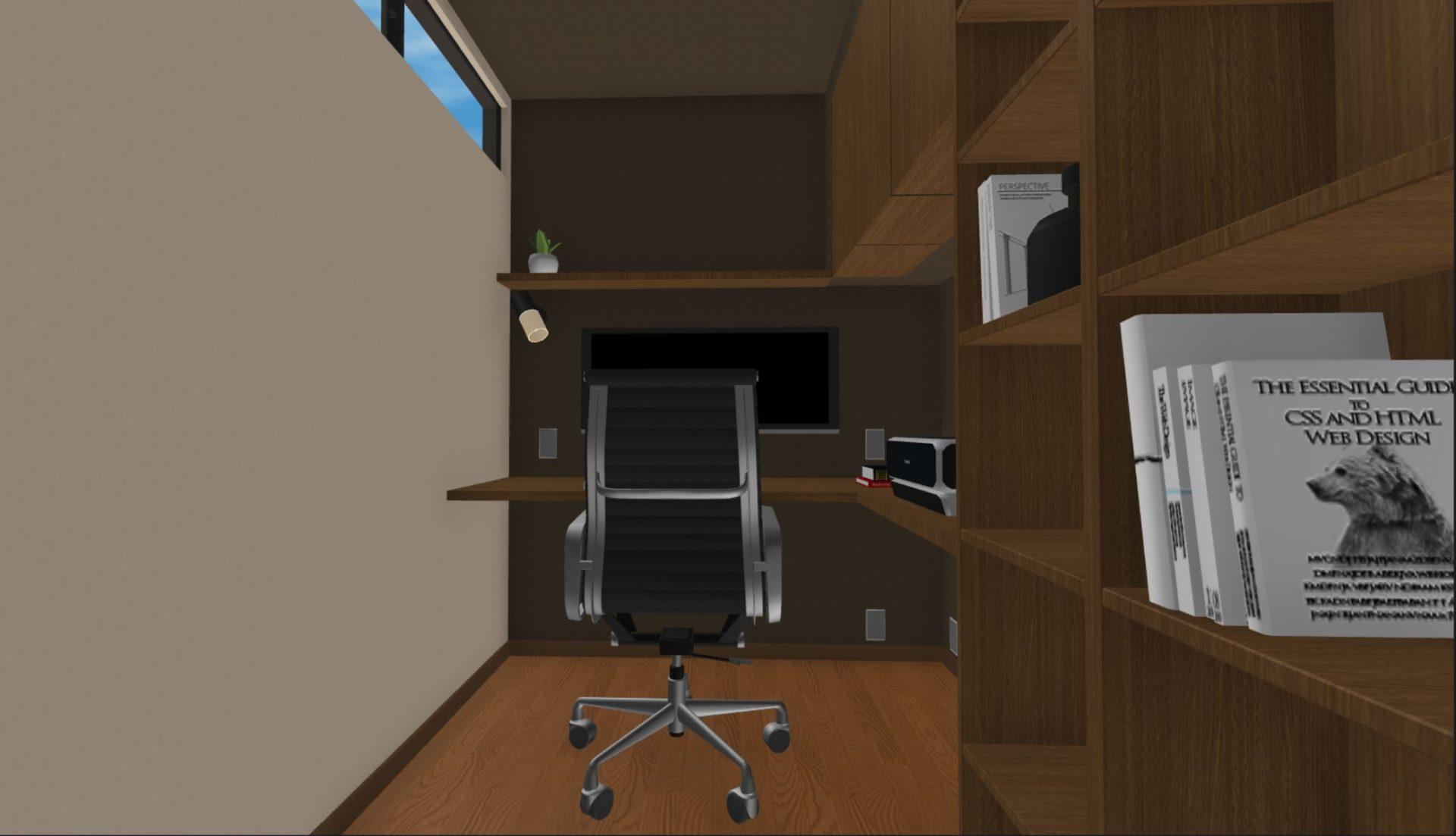 好みのデザインに仕上げた書斎