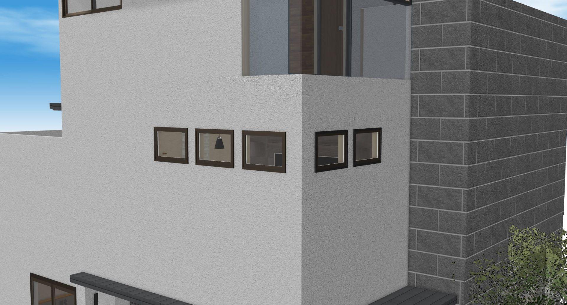 窓のサイズと間隔が同じだと外観も美しくなる