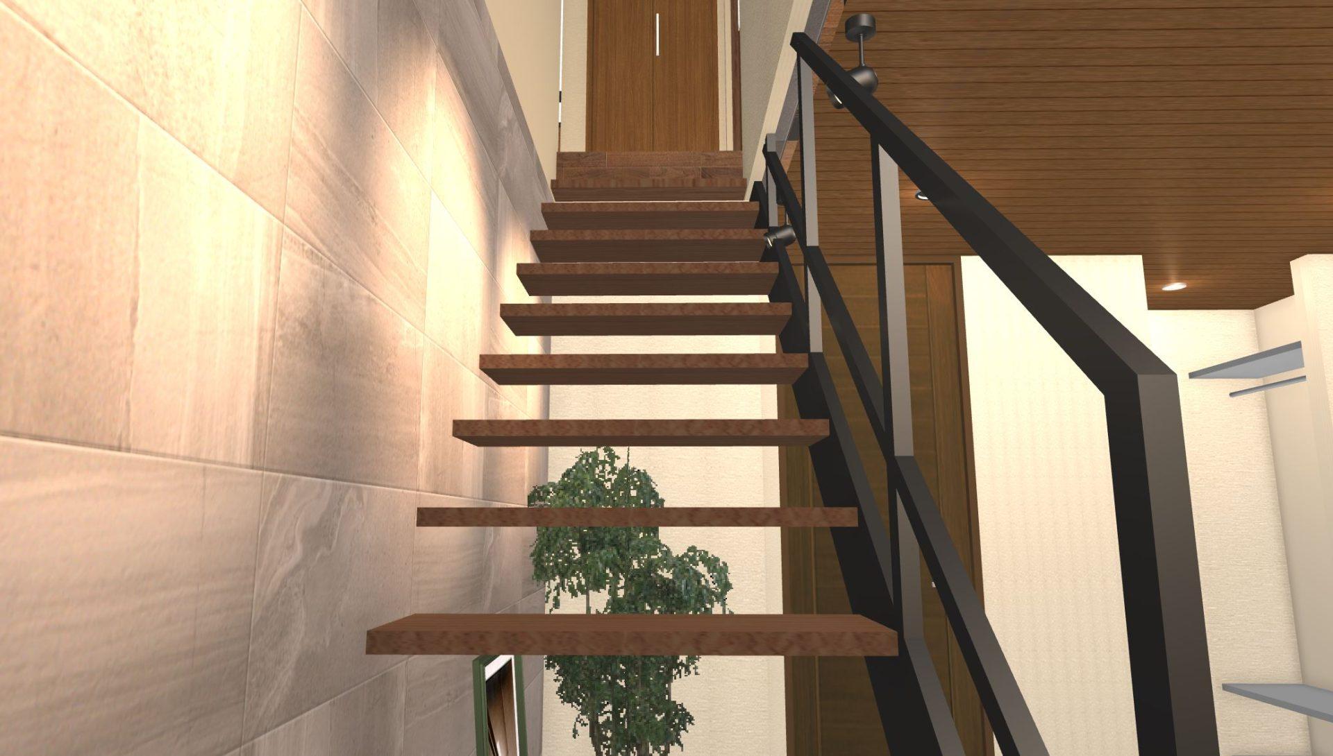 階段のパース