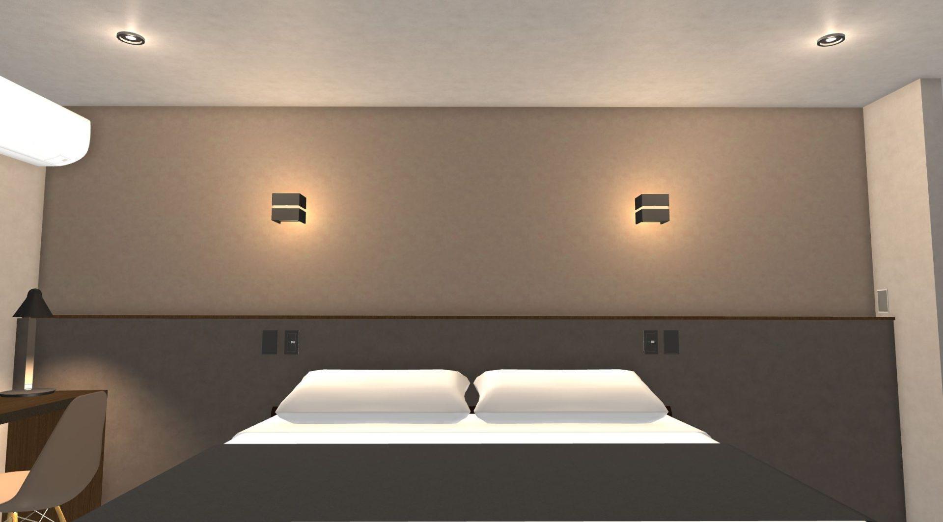 主寝室の照明