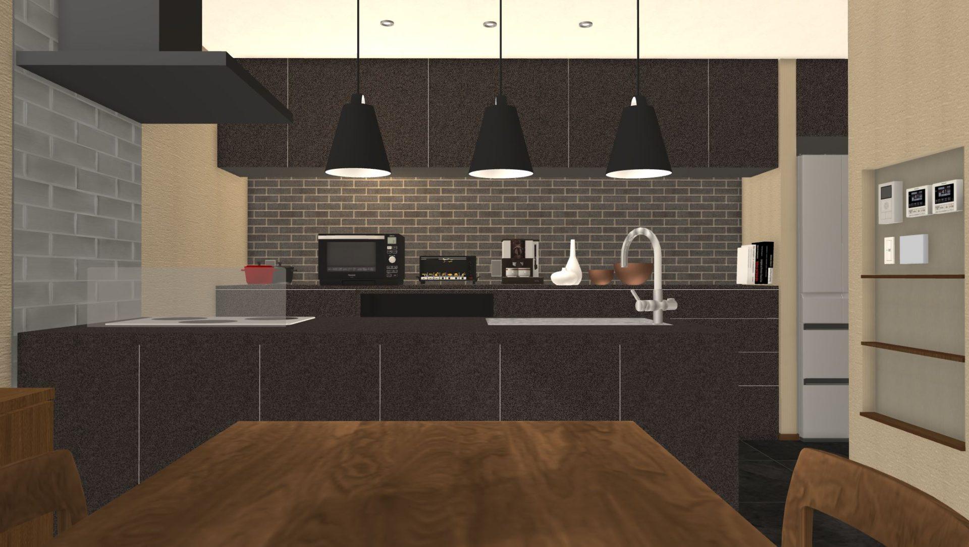 キッチンはリクシルのリシェルSIを選択