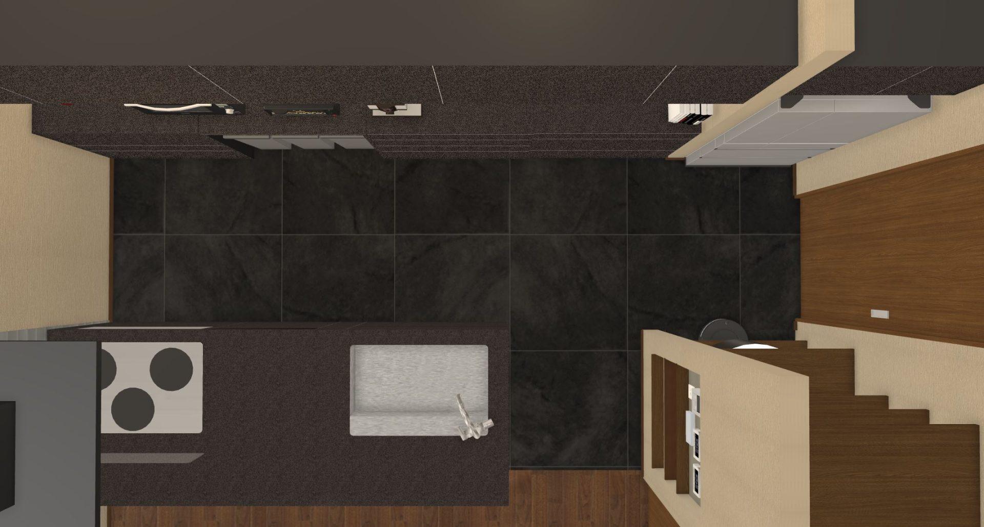キッチンの床はフロアタイル