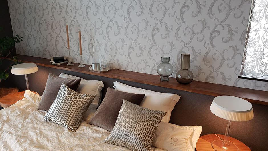 住友林業のとあるモデルハウスの寝室