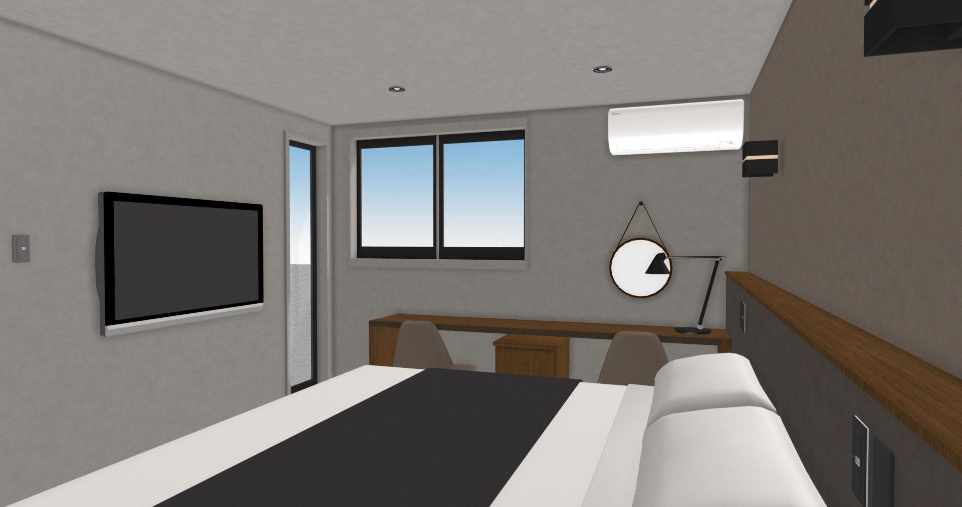 1階寝室のデスクとチェア