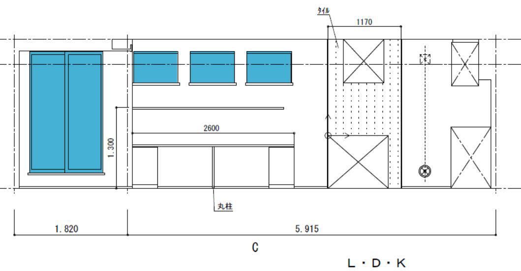 展開図で窓のサイズや高さを確認
