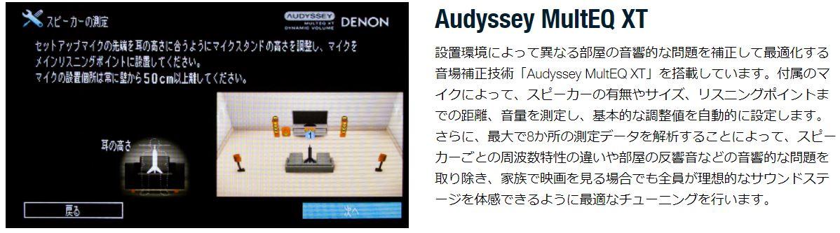 DENONの音場補正技術「Audyssey MultEQ XT」