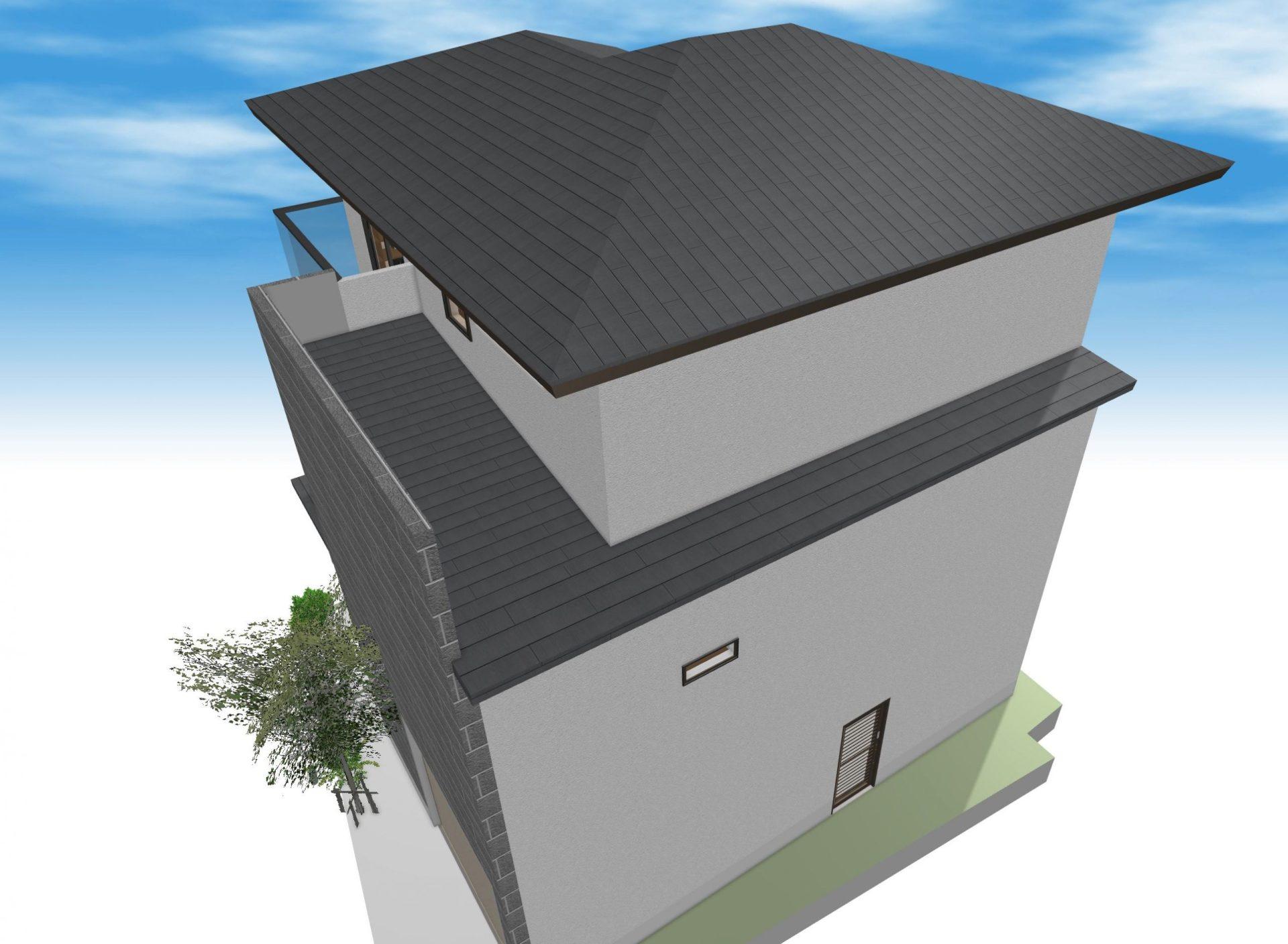 2階部分のサブ屋根