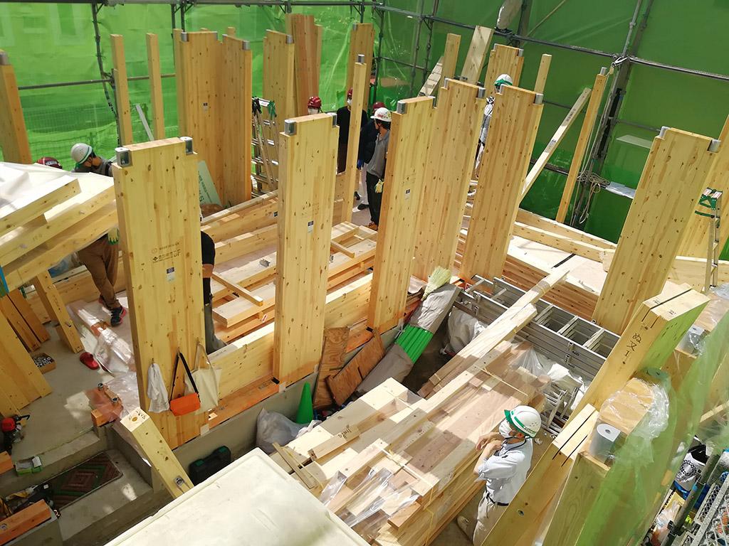 2階建方工事開始直前(6月18日)