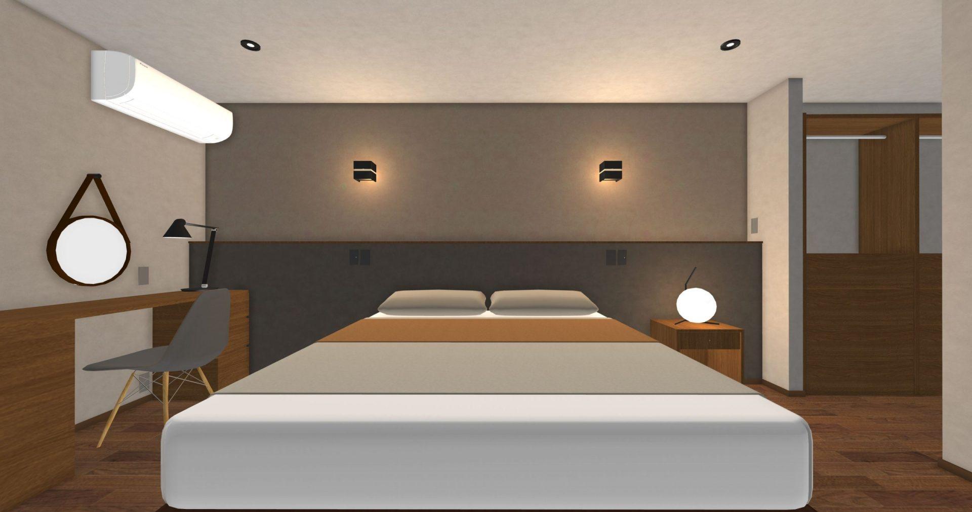 主寝室のパース