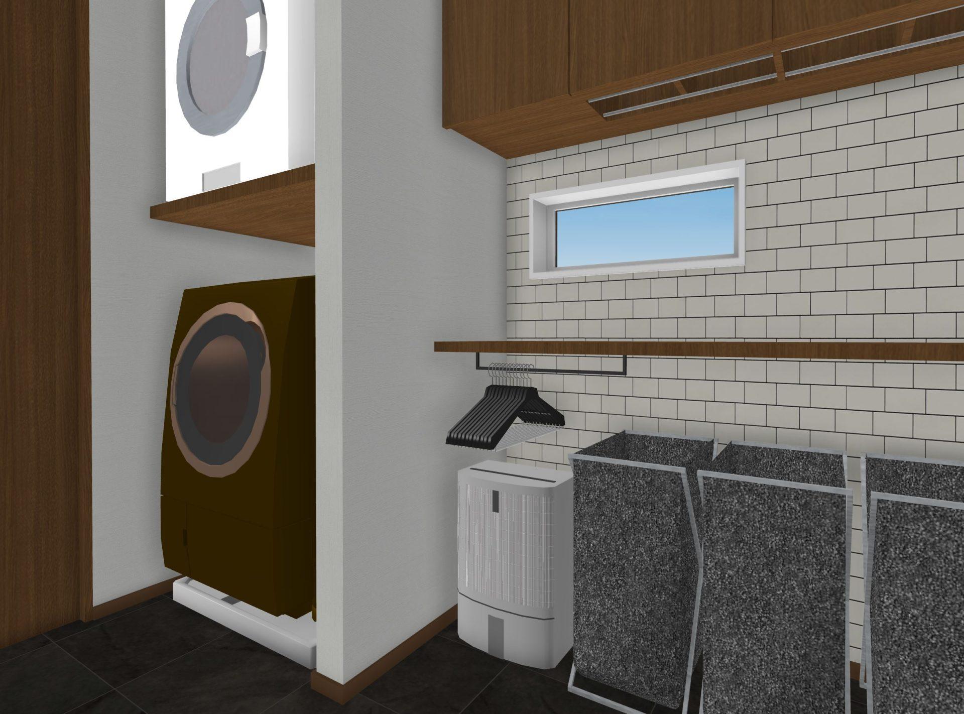 除湿機と選択の間の壁