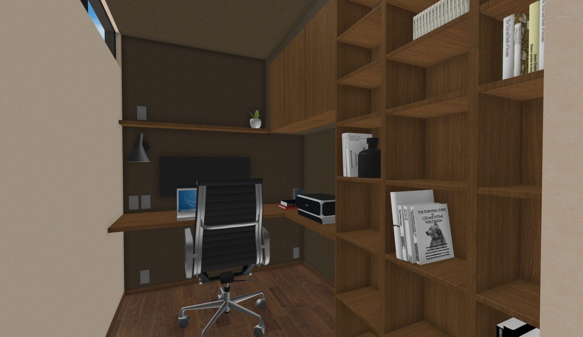 書斎のパース