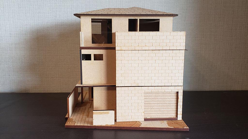 完成した住宅模型