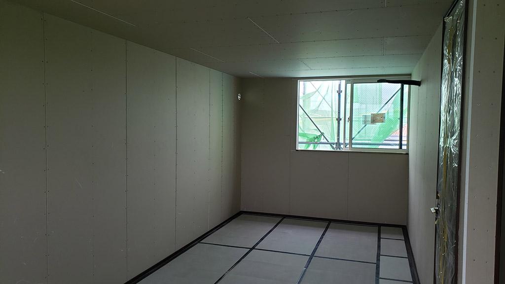 木完立ち合い時の3階居室(8月23日)