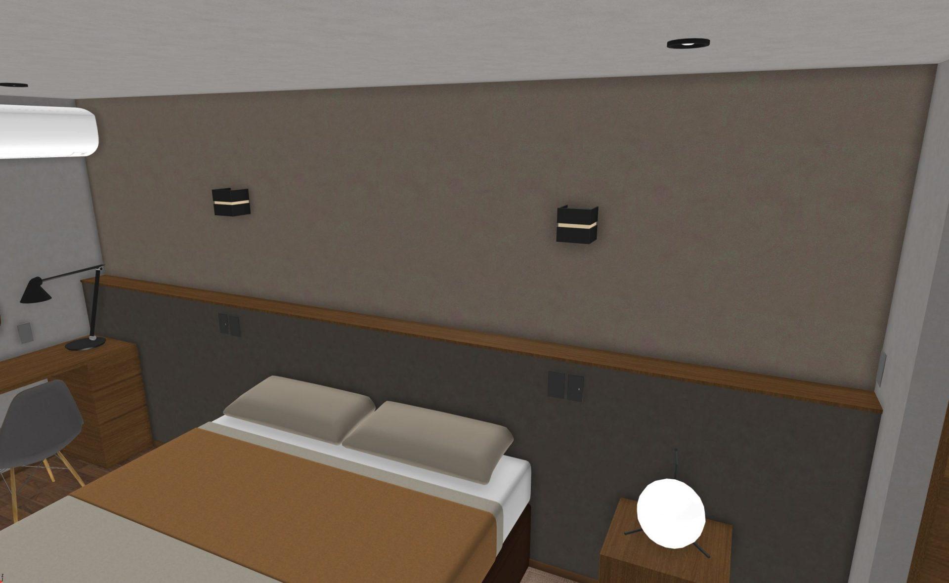 寝室のふかし壁