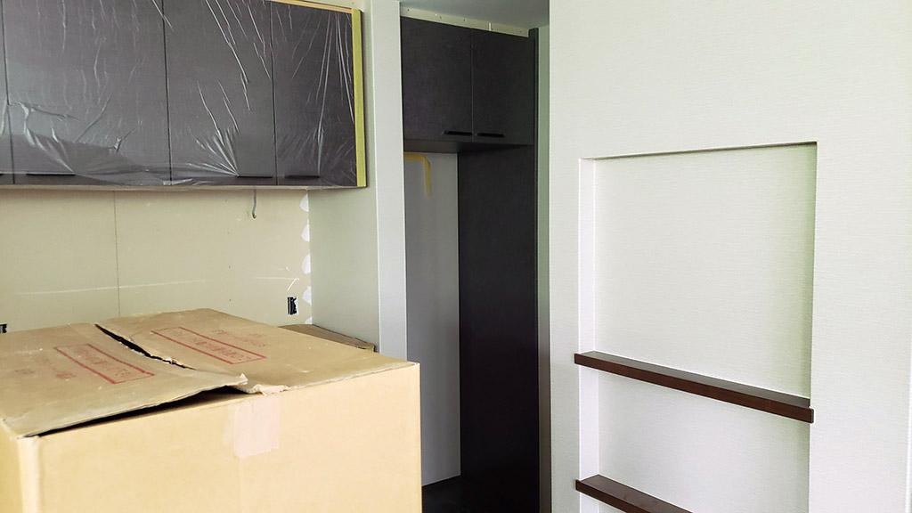 冷蔵庫収納のエンドパネル
